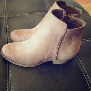 Taupe Faux Suede Ankle Bootie!